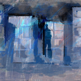 Mohrah Sakr Artwork Behind a window, 2005 Digital Art, Abstract Figurative