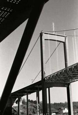 Bengt Stenstrom: 'bridge', 2010 Black and White Photograph, . Photo. Size is just example. ...