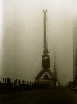 Bengt Stenstrom: 'fog harbour 2', 2010 Black and White Photograph, . Photo. Price is just an example, on foamboard. Or unmounted. ...
