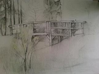 Ivana Andric Artwork The bridge, 2009 Other Drawing, Landscape