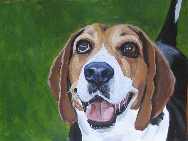 Artist Josep Manel Marti Gomez. 'Beagle' Artwork Image, Created in 2010, Original Painting Acrylic. #art #artist