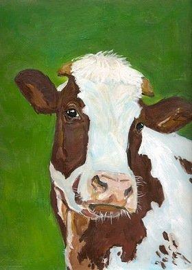 Josep Manel Marti Gomez Artwork Cow, 2010 Acrylic Painting, Figurative