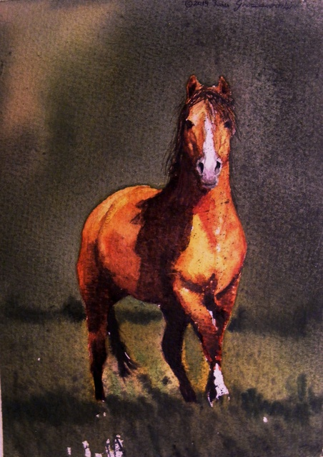 Ivan Grozdanovski  'Proud Stallion', created in 2013, Original Painting Acrylic.