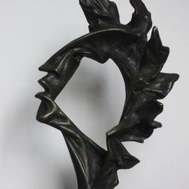 Alexander Iv Ivanov: 'Poetry', 2013 Bronze Sculpture, Culture. Artist Description: bronze, sculpture, poet, abstraction, poetry, creativity, art...