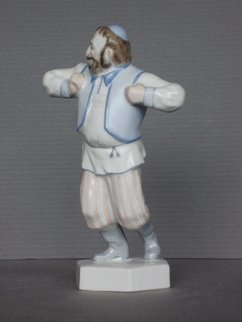 Alexander Iv Ivanov: 'dancer', 2017 Ceramic Sculpture, Dance. Artist Description: dancer, Jewish wedding, porcelain, overglaze painting, Jew, sculpture...