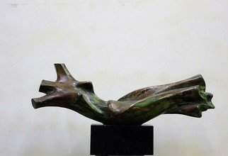Alexander Iv Ivanov: 'flying torso', 2015 Bronze Sculpture, Abstract Figurative. Artist Description: bronze, sculpture, creativity, art, torso...