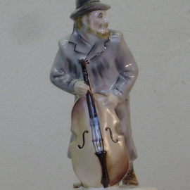 Alexander Iv Ivanov: 'musician', 2017 Ceramic Sculpture, Judaic. Artist Description: musician, Jewish wedding, porcelain, overglaze painting, ...