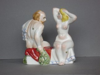 Alexander Iv Ivanov: 'russian bath 02', 2016 Ceramic Sculpture, Erotic. Artist Description: Russian bath, porcelain, overglaze painting, humor, sailor, eroticism...