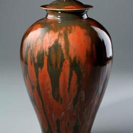 Ivar Mackay Artwork Autumn Jar, 2003 Wheel Ceramics, Landscape
