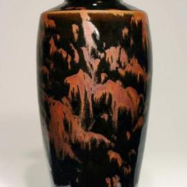 Ivar Mackay Artwork Mountain Trees Night, 2005 Wheel Ceramics, Landscape