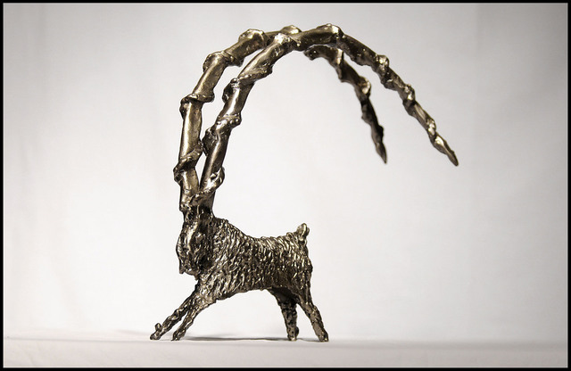 Ivica Vukadin  'RAM', created in 1995, Original Sculpture Steel.