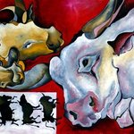 COWS, oil on canvas By Justineivu Justineivu