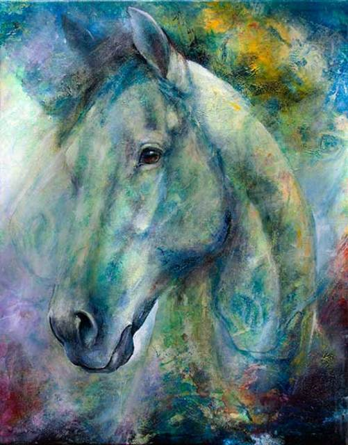 Iwona Jankowski  'Morning Thunder', created in 2020, Original Painting Acrylic.