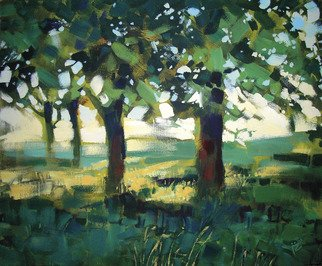 Landscape Acrylic Painting by Igor Zakowski Title: painting 0004, created in 2008