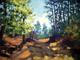 Landscape Acrylic Painting by Igor Zakowski Title: painting 0006, created in 2008
