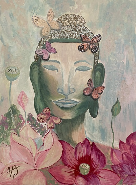 Iryna Zubenko  'Harmony Of Buddha', created in 2020, Original Painting Oil.