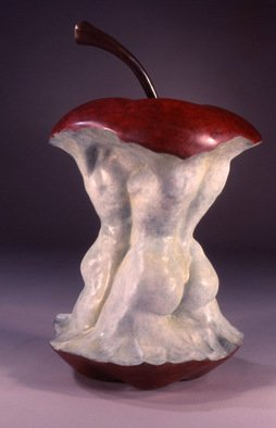 Jack Hill: 'Apple', 2003 Bronze Sculpture, Fantasy. Artist Description:  The full title of this piece is Love at First Bite. ...