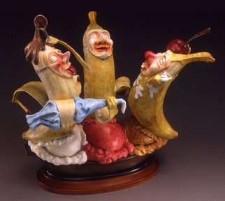 Jack Hill: 'Bananas', 2005 Bronze Sculpture, Fantasy.  The full title of this piece is Who s The Top Banana Now? ...