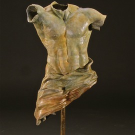 Jack Hill Artwork Body Armor  draped torso, 2012 Bronze Sculpture, Figurative
