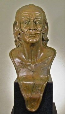 Bronze Sculpture by Jack Hill titled: Dali, created in 2011