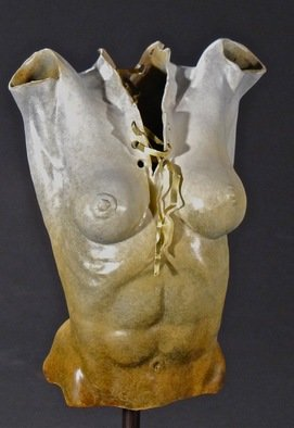 Jack Hill: 'female torso', 2012 Bronze Sculpture, Figurative. Artist Description:      Figurative work in fragmented formate    ...