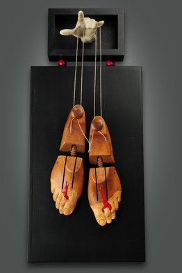 Jack Hill: 'pinocchio stigmata', 2017 Mixed Media, Political. Artist Description: wood, found objects, cast resin, epoxy, string...