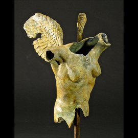 Jack Hill Artwork winged torso, 2012 Bronze Sculpture, Figurative