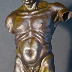 , Male Torso Old Soldier Fr, Mythology, $2,520