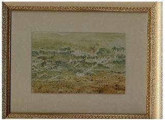 Artist: Jacqueline Burns - Title: Waves - Medium: Watercolor - Year: 2005