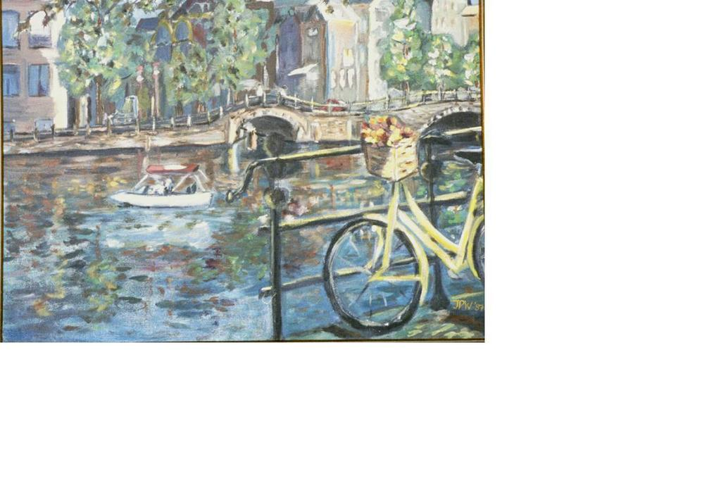 Jacqueline weegels burns artwork yellow bicycle for Bicycle painting near me