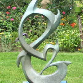 Jacques Malo Artwork Signature, 2013 Bronze Sculpture, Abstract