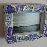Blue and White frame By Susan Whelihan