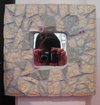 Susan Whelihan: 'Yellow Mirror', 2004 Mosaic, Fractal. Artist Description: Pale yellow textured tiles are accented by small fuchsia tiles to create an old world European feel....
