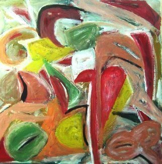 Peter Jalesh: 'abstract tulips', 2008 Acrylic Painting, Abstract. Artist Description: green and pink abstract tulips...