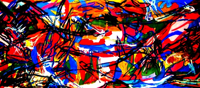 Peter Jalesh  'Abstrtact Landscape Xx', created in 2008, Original Drawing Marker.