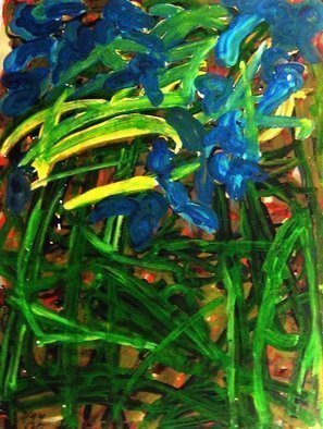 Peter Jalesh: 'corn field', 2001 Acrylic Painting, Abstract. Artist Description: Acrilyn Painting on cardboard ...