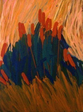 Peter Jalesh: 'marsh vegetation', 2009 Acrylic Painting, Abstract Landscape. Artist Description: Reeds, acrylic on canvas, 36 X48 , abstract landsca...