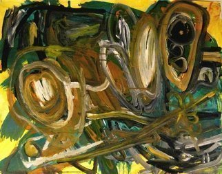 Peter Jalesh: 'the scream', 1996 Acrylic Painting, Abstract. Artist Description: Acrilyc painting on cardboard...