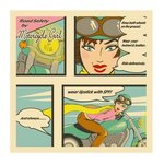 Motorcycle girl By Janet Allinger