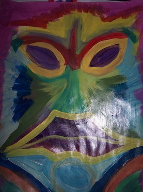 James Elliott Artwork Face pic 0110, 2010 Acrylic Painting, Abstract
