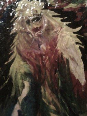 James Elliott Artwork Mermaid Lady, 2010 Acrylic Painting, Abstract