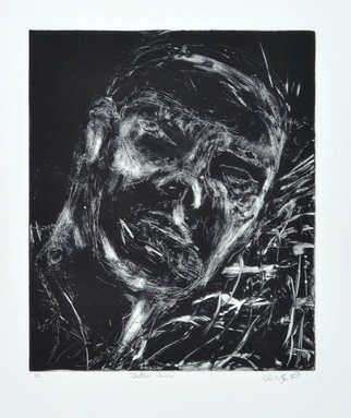 James  Mayor: 'selfless', 2016 Monoprint, War. Artist Description: unframed ...