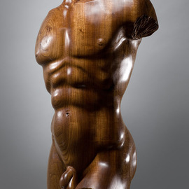 James Mcloughlin: 'Male Torso', 2010 Wood Sculpture, Figurative. Artist Description:  This was carved out of Welsh Elm which is very rare these days.    ...