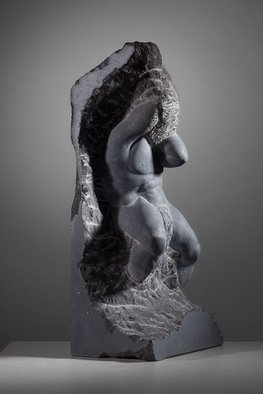 James Mcloughlin: 'Our Troubles and Worries', 2011 Stone Sculpture, Figurative. Artist Description:  Carved out of Kilkenny Limestone this piece was inpired by the unfinished statues of the master sculptor Michelangelo.   ...