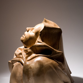 James Mcloughlin: 'The Ecstacy', 2010 Wood Sculpture, Figurative. Artist Description:  This was inspired by the Bernini Sculpture The Ecstacy of St Threasa. Its carved out of Olive Ash.     ...