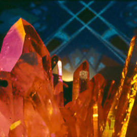 James Parker: 'Amazing Crystals', 1990 Color Photograph, Optical. Artist Description: The scintillating beauty if this quartz crystal cluster is brought out nicely in this almost glowing photograph....