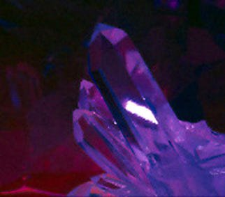 James Parker: 'Crystal Calm', 1988 Color Photograph, Optical. A calming mood is exuded by the crystal in this soft colored portrait of a quartz point....