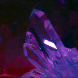 James Parker: 'Crystal Calm', 1988 Color Photograph, Optical. Artist Description: A calming mood is exuded by the crystal in this soft colored portrait of a quartz point....