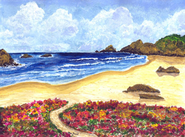 James Parker Flower Garden Beach 2003