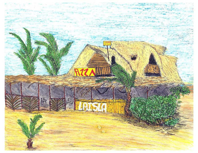 James Parker  'La Isla', created in 2003, Original Drawing Pen.
